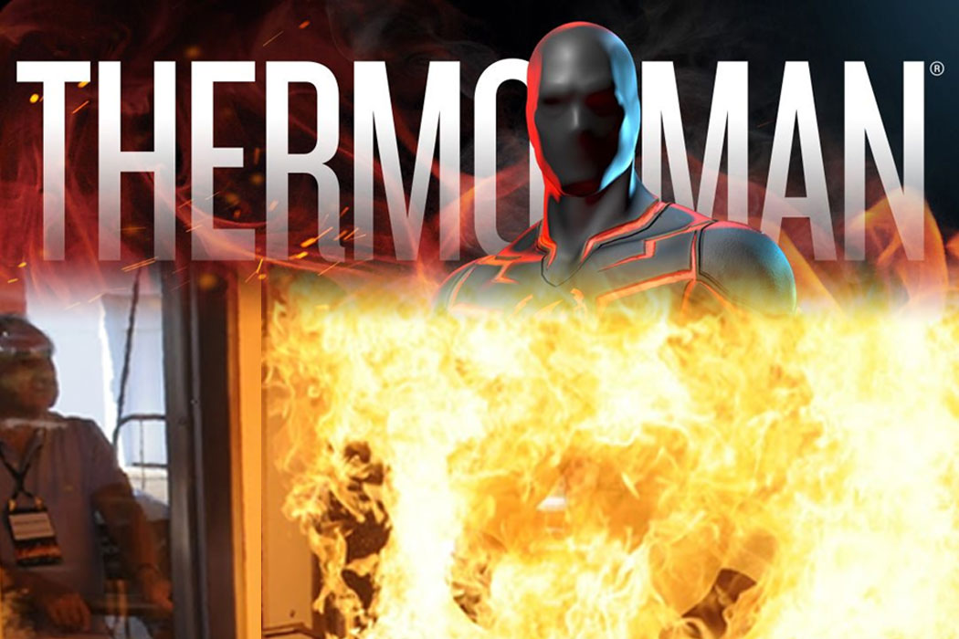 Thermo-Man Logo - mannequin on fire